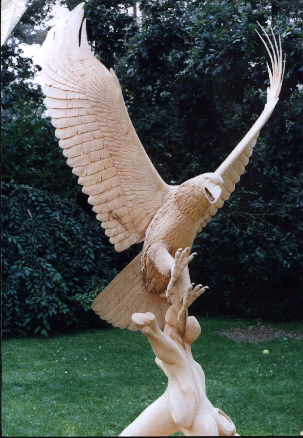 Blueprints wood carving eagle